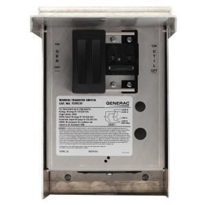 Generac 30Amp Single Circuit Manual Transfer Switch at
