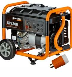 generac gp 3300 running watt gasoline portable generator [ 900 x 900 Pixel ]
