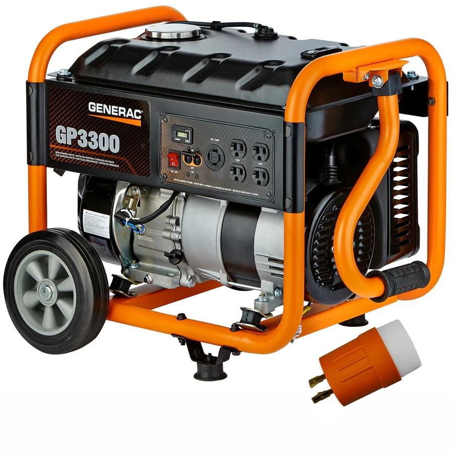 medium resolution of generac gp 3300 running watt gasoline portable generator