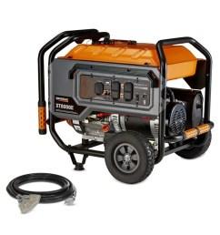 generac xt 8000 running watt gasoline portable generator [ 900 x 900 Pixel ]