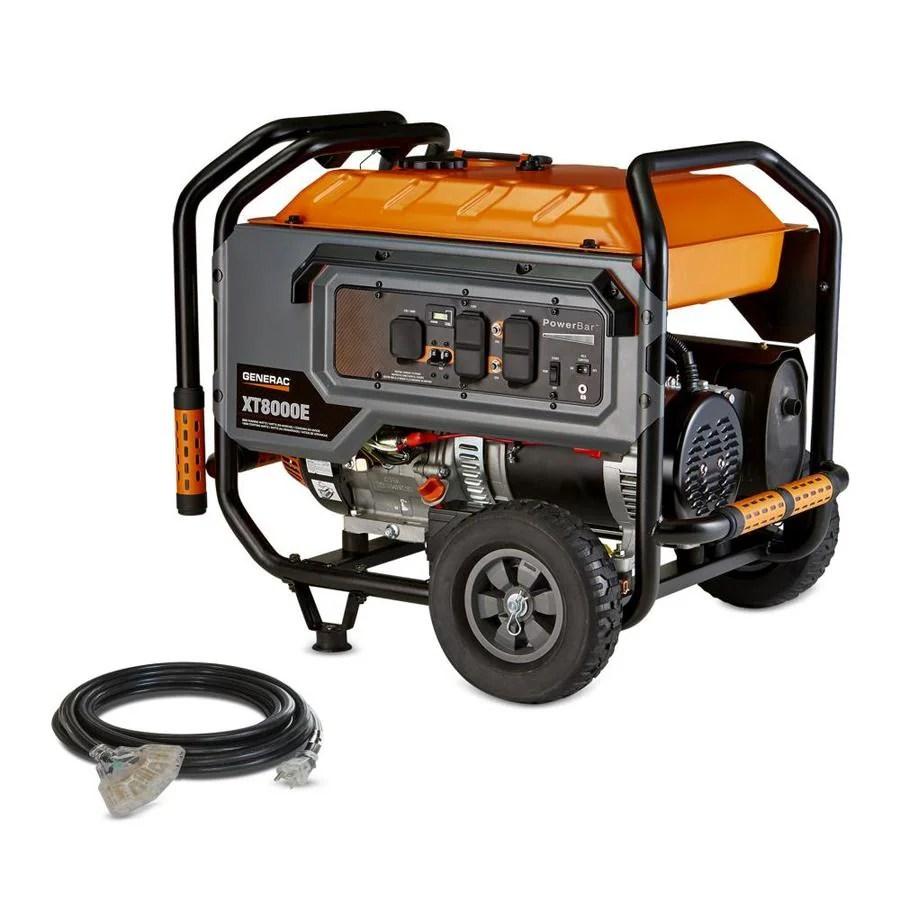 hight resolution of generac xt 8000 running watt gasoline portable generator