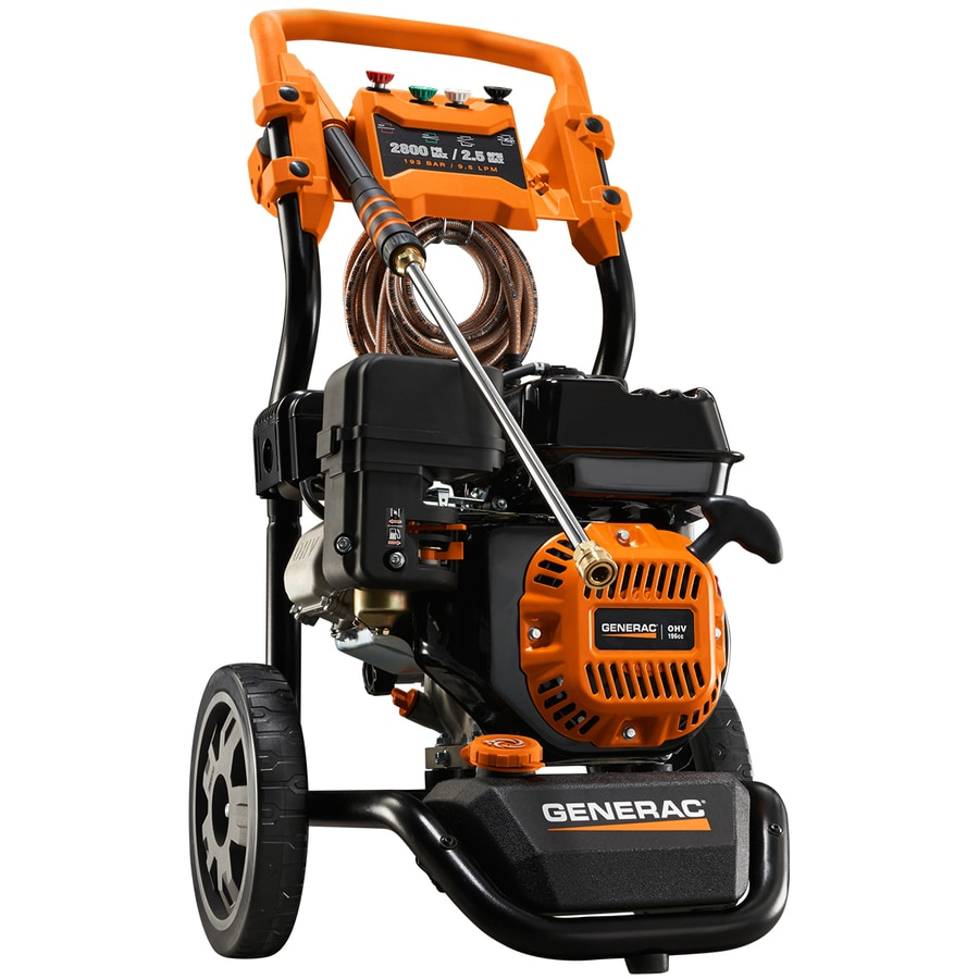 hight resolution of generac 2800 psi 2 5 gpm cold water gas pressure washer