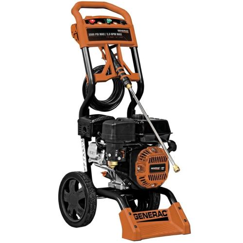 small resolution of generac 2500 psi 2 3 gpm cold water gas pressure washer