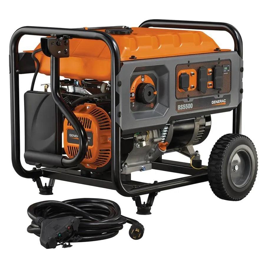 hight resolution of generac rapid start 5500 running watt gasoline portable generator