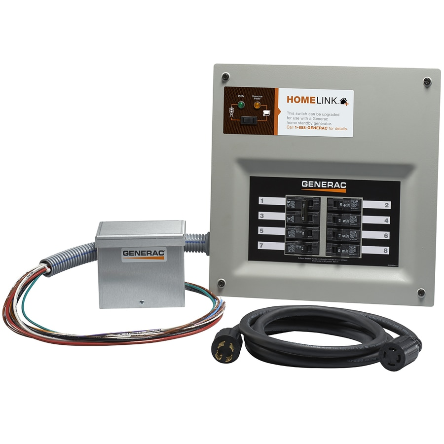 hight resolution of generac homelink upgradeable 30 amp manual transfer switch with aluminum power inlet box