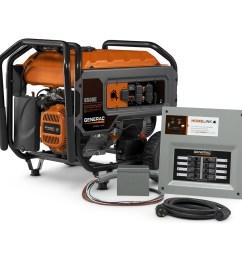 generac homelink 6500 running watt gasoline portable generator [ 900 x 900 Pixel ]