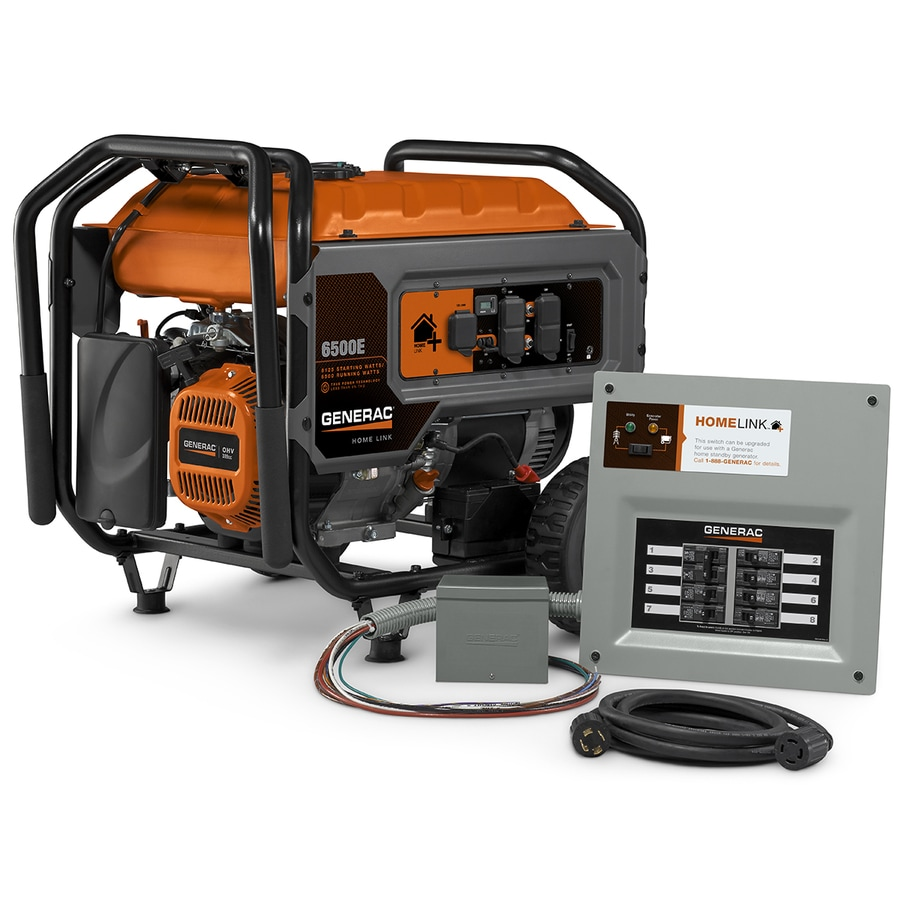 hight resolution of generac homelink 6500 running watt gasoline portable generator