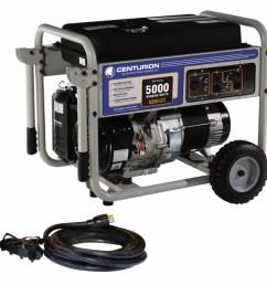 centurion by generac power systems centurion 5000 running watts portable generator [ 900 x 900 Pixel ]