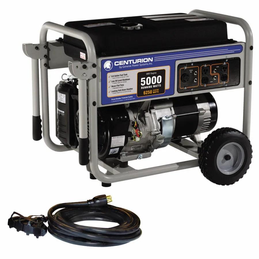 medium resolution of centurion by generac power systems centurion 5000 running watts portable generator