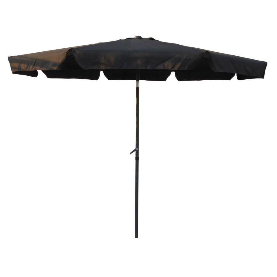 international caravan 10 ft black auto tilt market patio umbrella