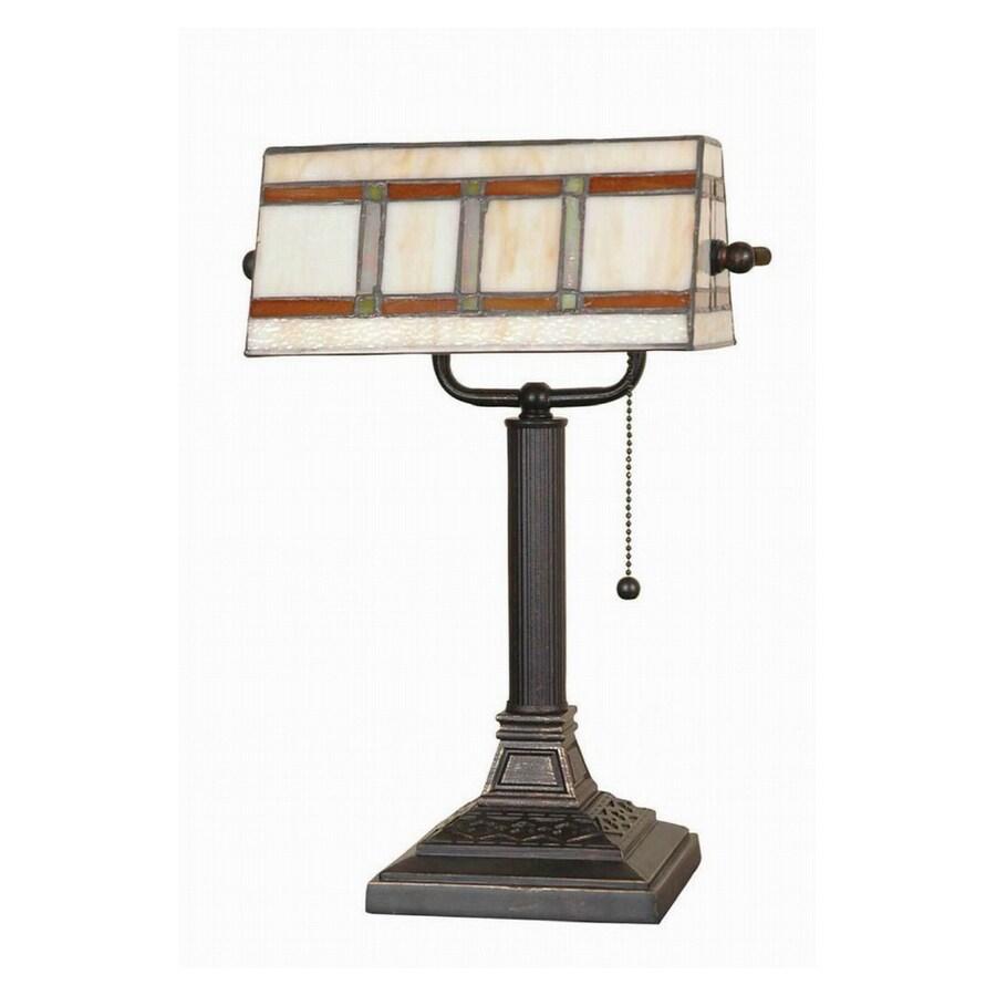 """Shop Portfolio 16"""" Tiffany Banker Desk Lamp at Lowes.com"""