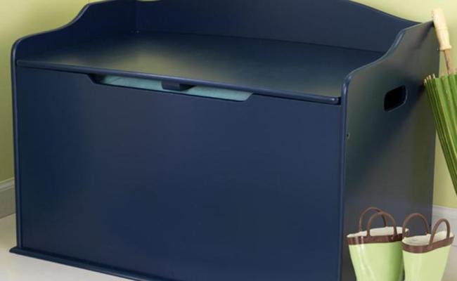 Kidkraft Austin Blueberry Rectangular Toy Box At Lowes
