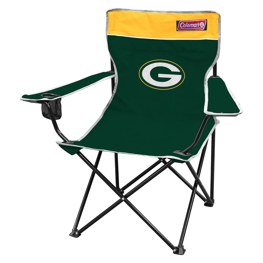 green bay packers chair king tut coleman nfl steel folding at lowes com