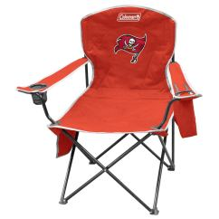 Coleman Rocking Chair Red Wingback Slipcover Nfl Tampa Bay Buccaneers Steel At Lowes Com