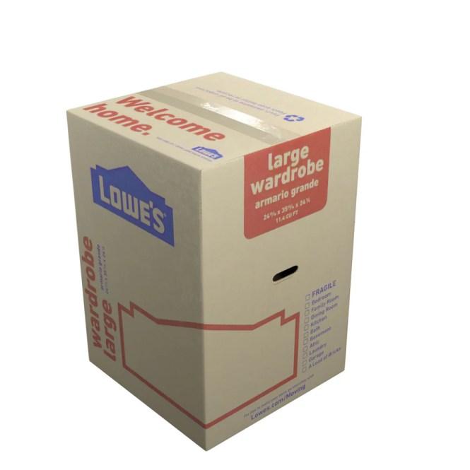 Classic Large Cardboard Wardrobe Moving Box Actual 24 8125 In X 35