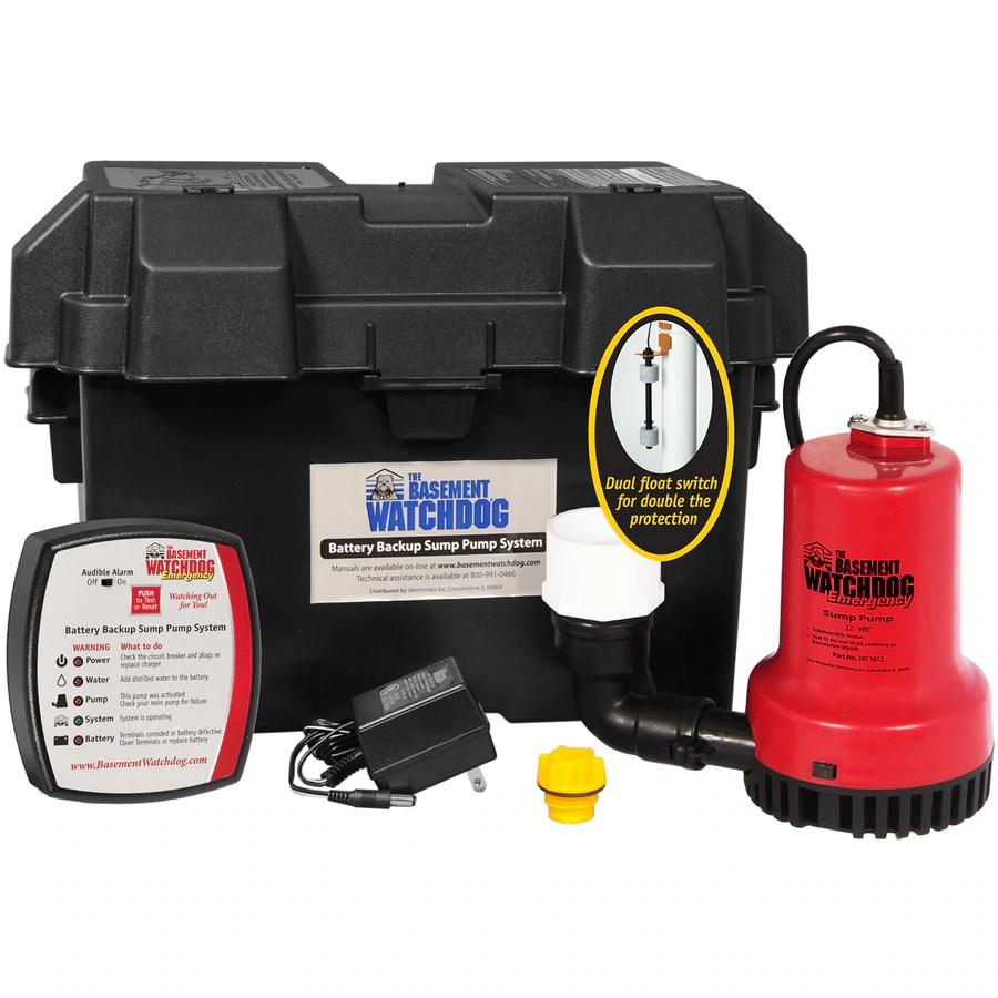 medium resolution of basement watchdog 0 25 hp plastic battery powered sump pump