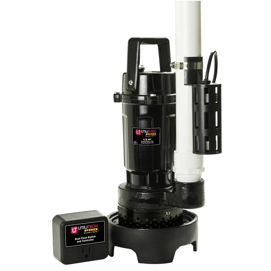 hight resolution of utilitech 0 5 hp aluminum submersible sump pump