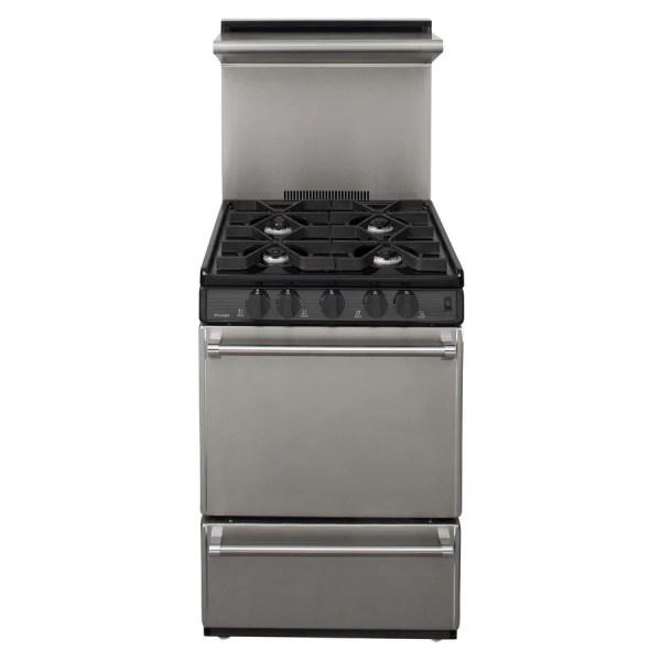 Premier 24- 4-burner Freestanding Gas Range Color Stainless Steel