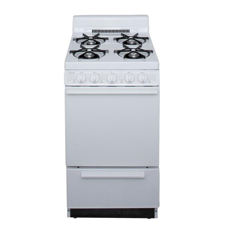 kitchen stoves at lowes island set shop premier freestanding 2.4-cu ft gas range (white ...