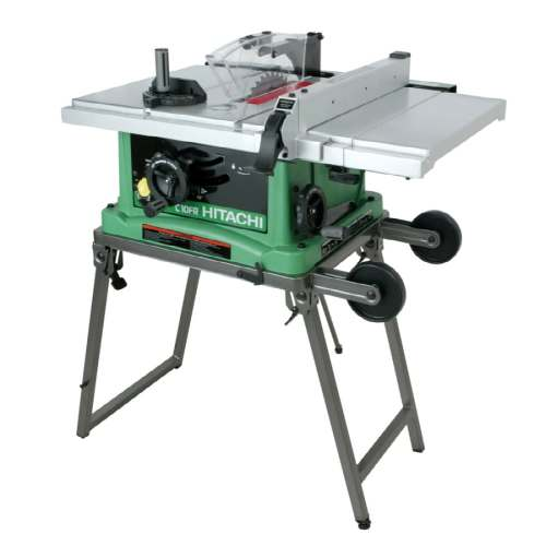 small resolution of hitachi 10 in blade 15 amp table saw