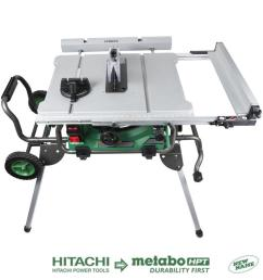 hitachi 10 in carbide tipped blade 15 amp table saw [ 900 x 900 Pixel ]