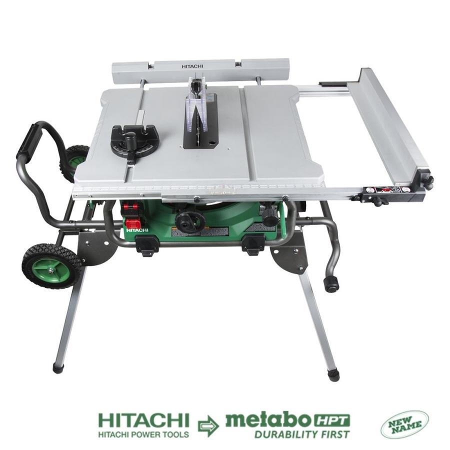 medium resolution of hitachi 10 in carbide tipped blade 15 amp table saw