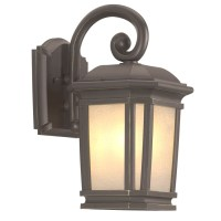 Shop Portfolio Corrigan 13.25-in H Dark Brass Outdoor Wall ...