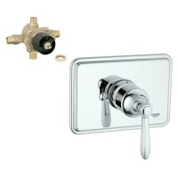 Shop GROHE Chrome Lever Shower Handle at Lowes.com