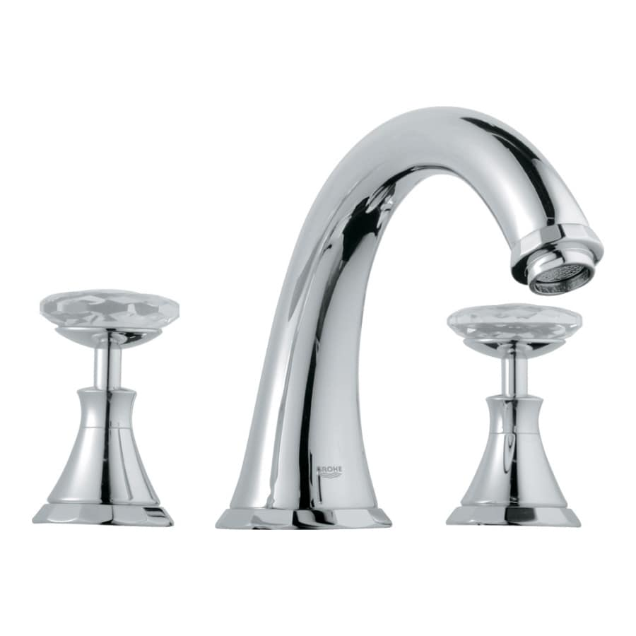 grohe kitchen faucets lowes granite counters shop kensington starlight chrome/swarovski crystal 2 ...