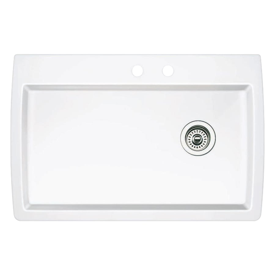 blanco diamond dual mount 33 5 in x 22 in white single bowl 1 hole kitchen sink