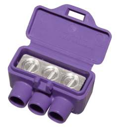 alumiconn 3 port al cu 10 pack purple al cu wire connectors [ 900 x 900 Pixel ]