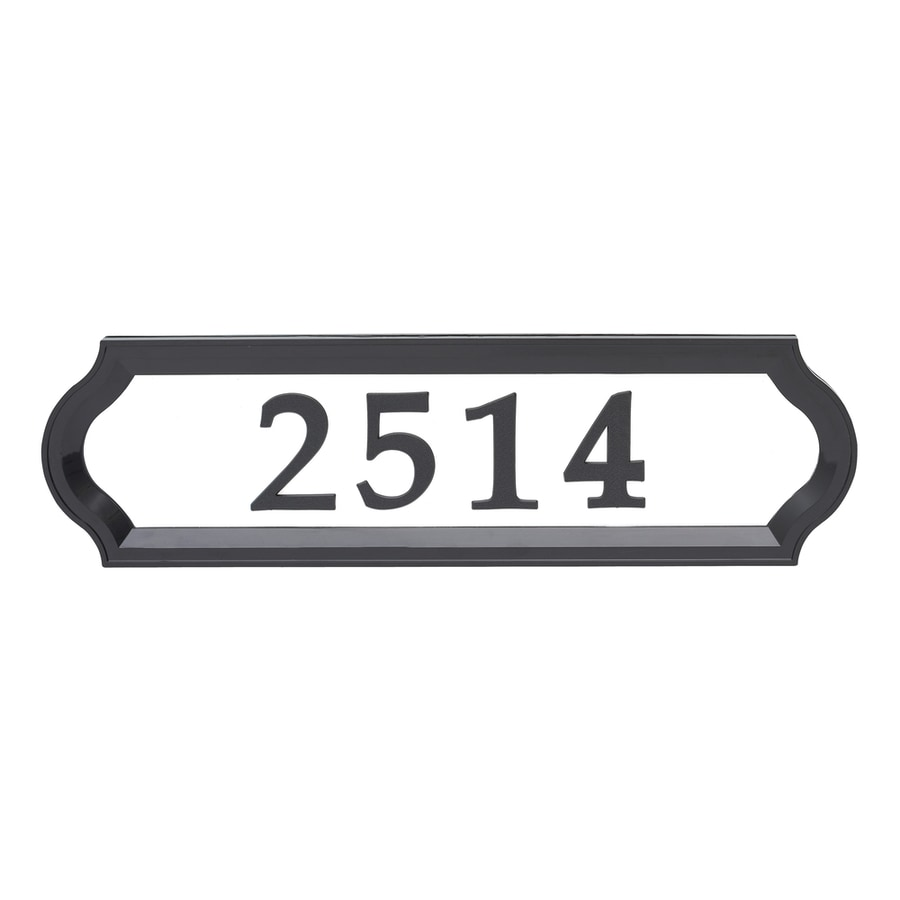 Lowes Vertical House Number Plaques