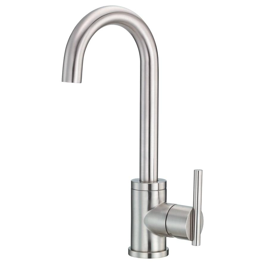 https www lowes com pd danze parma stainless steel 1 handle deck mount high arc handle lever residential kitchen faucet 1000061361
