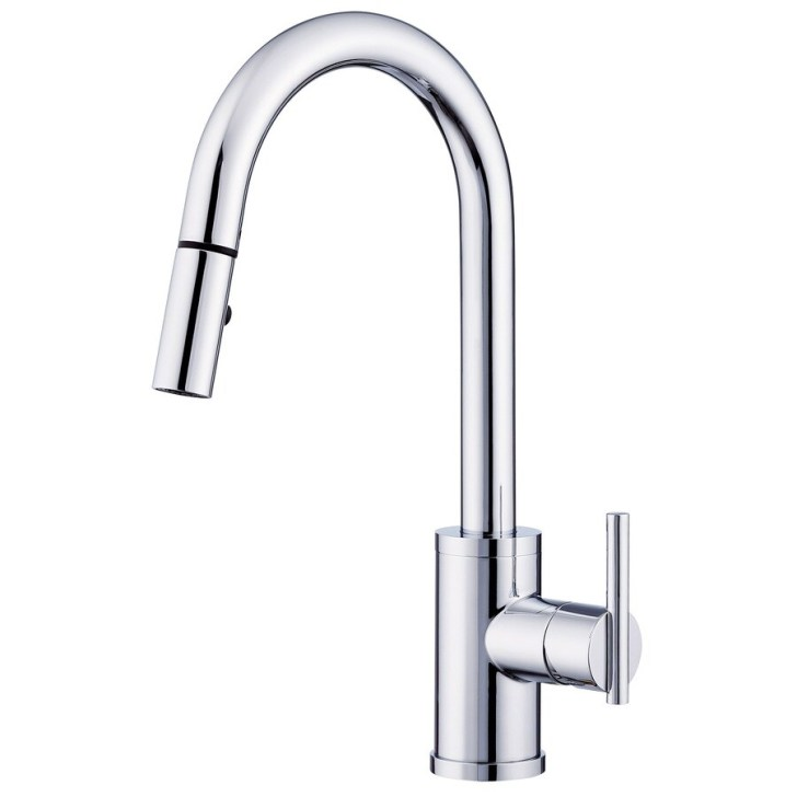 Shop Danze Parma Chrome Handle Pull Down Kitchen Faucet