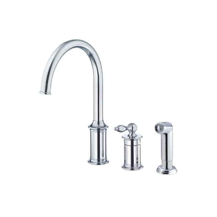 Shop Danze Prince Chrome Handle High Arc Kitchen Faucet