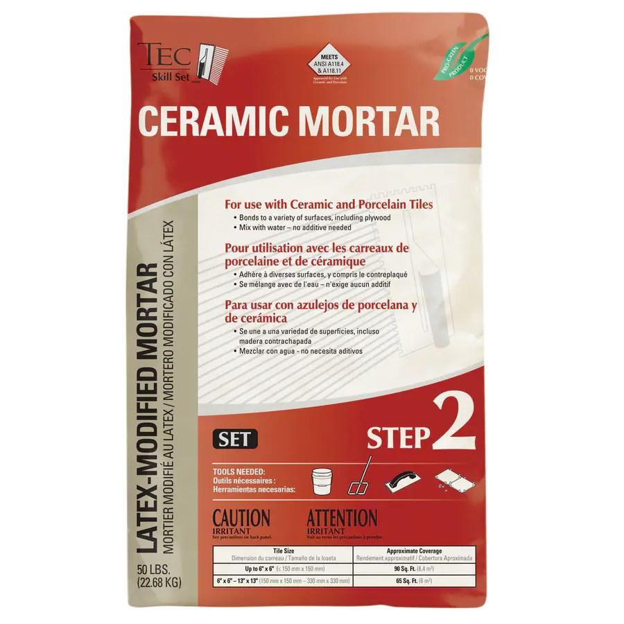 tec gray tile mortar in the mortar department at lowes com