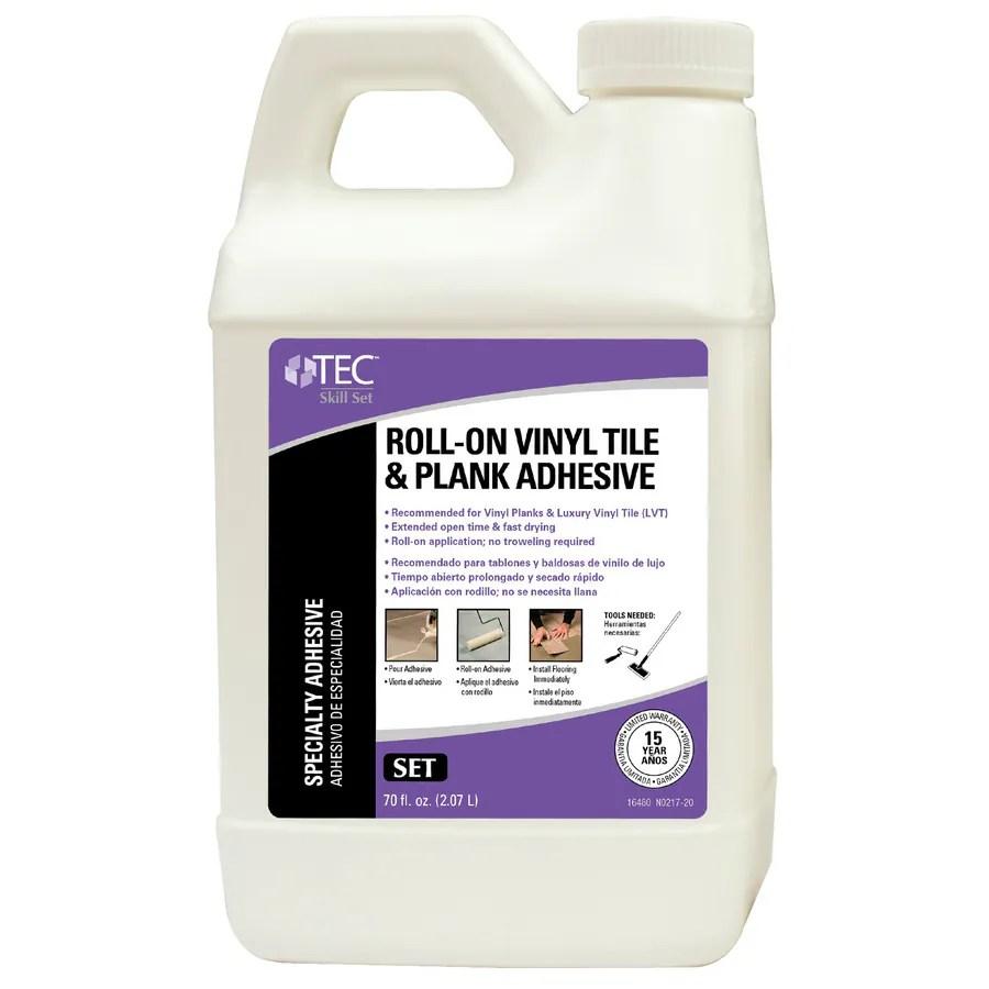 tec skill set pack vinyl tile and plank flooring adhesive 70 oz lowes com