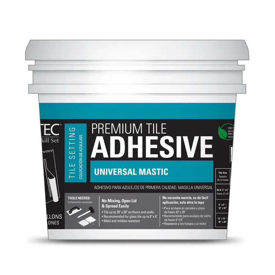 tec premium tile adhesive universal mastic ceramic tile mastic 3 5 gallon