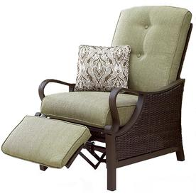 recliner patio chair with casters chairs at lowes com hanover outdoor furniture ventura wicker steel cushion