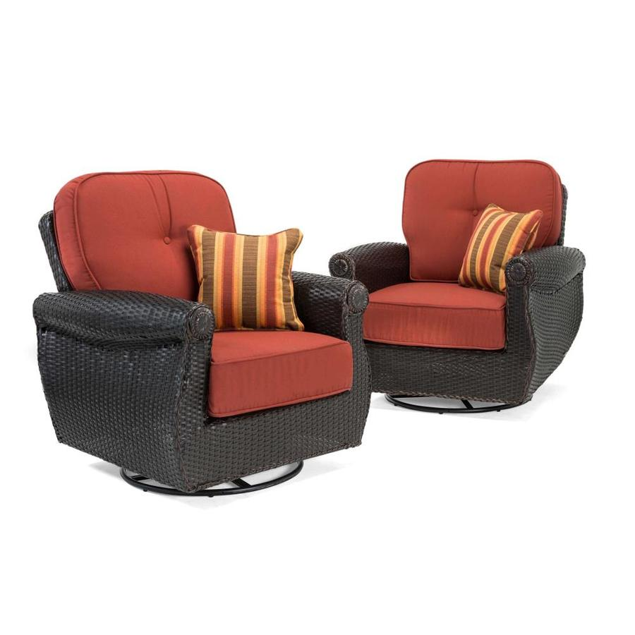 Lazy Boy Swivel Chair La Z Boy Outdoor Breckenridge Set Of 2 Wicker Metal Swivel