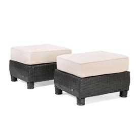 outdoor chair and ottoman bungee office ottomans foot stools at lowes com la z boy breckenridge 2pk set natural sand