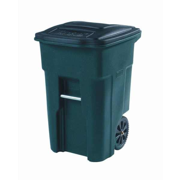 Shop Toter 48Gallon Greenstone Plastic Wheeled Trash Can