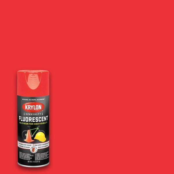 Krylon Gloss Red-orange Fluorescent Spray Paint Actual Net Contents 11-oz
