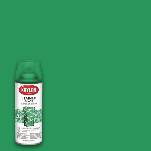 Krylon Gloss Summer Green Stained Glass Spray Paint