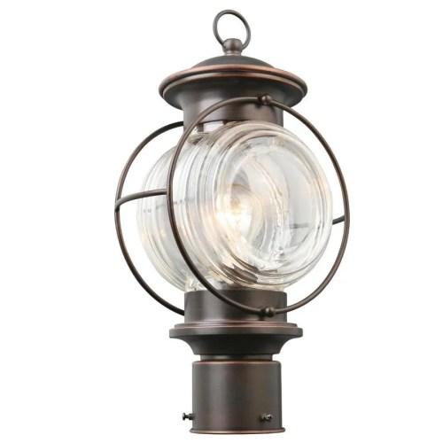 small resolution of portfolio caliburn 15 25 in h oil rubbed bronze post light