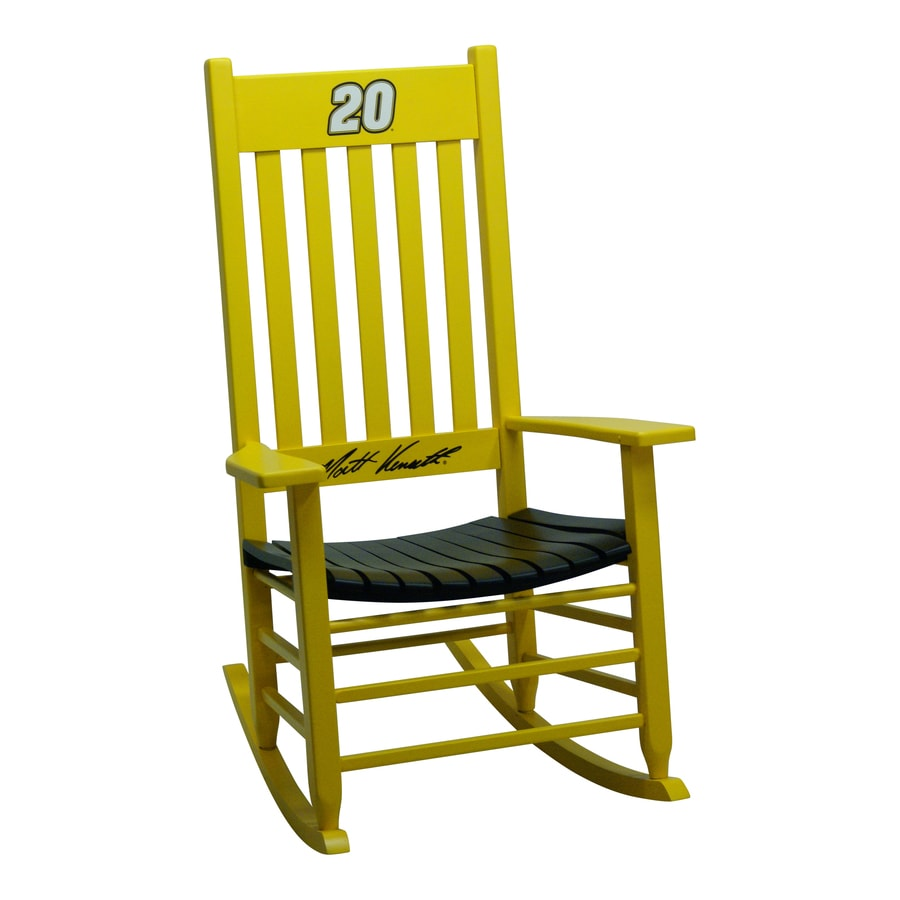 rocking chair rockers leather covers ebay hinkle company nascar yellow black