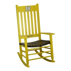 Rocking Chair Rockers Frontgate Lounge Covers Hinkle Company Nascar Yellow Brown