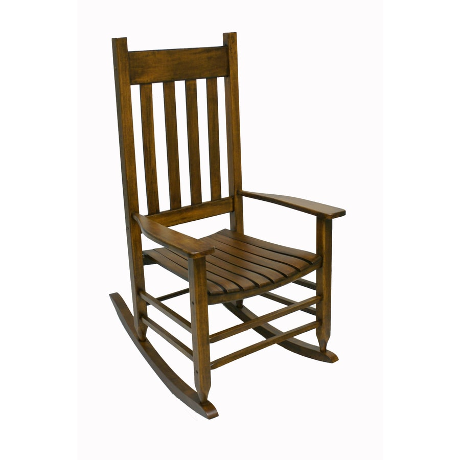 Lowes Outdoor Rocking Chair Garden Treasures Natural Wood Slat Seat Outdoor Rocking Chair At