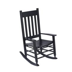 Black Rocking Chairs Grey High Back Dining Garden Treasures Chair With Slat At Lowes Com