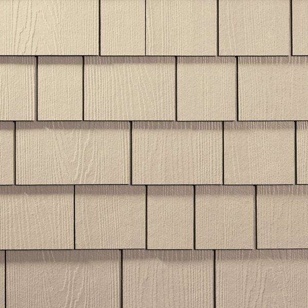 James Hardie 15.25-in x 48-in ColorPlus-HZ5 HardieShingle Sail Cloth  Woodgrain Shingle Siding Panel at Lowes.com
